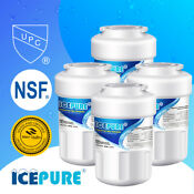 Icepure Replacement For Ge Mwf Smartwater Mwfp Gwf Fridge Water Filter 4 Pack
