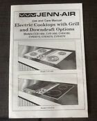 Jenn Air Use Care Manual Electric Cooktop Grill Downdraft Cce1400 Cve1400 More