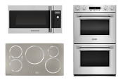 Monogram Pro 3 Piece Kitchen With Induction Cooktop And Double Oven