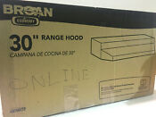 Broan 423002 190 Cfm 30 Inch Wide Under Cabinet Range Hood With Washable Filters