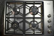 Miele 30 Stainless Steel 4 Burner Gas Cooktop Km3464gss