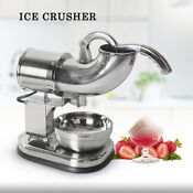 Commercial Ice Shaver Electric Bar Ice Crusher Snow Cone Maker Stainless Steel
