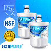 2 Pack Fit For Lg Lt500p 5231ja2002a Adq72910901 9890 Water Filter Icepure