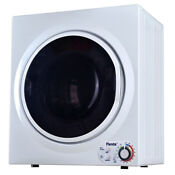 Panda 3 75 Cu Ft Compact Electric Dryer In White And Black Bottom Control
