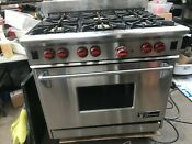 36 Wolf Stainless Gas Range 6 Burners In Los Angeles