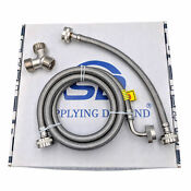 Supplying Demand Dryer Steam Hose Kit Braided Stainless Steel 5ft With Elbow
