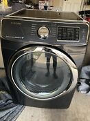 Samsung Black Stainless Steel 7 5 Cu Ft Gas Front Load Dryer