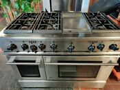 G E Monogram Stainless Steel Dual Fuel Double Oven Range Convection