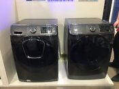 Samsung Front Load Black Stainless Steam Front Load Washer Dryer Euc