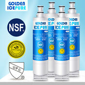 Fit For 4396508 Ed5fhexms00 Ksrs25cnbl00 Refrigerator Ice Water Filter 4pack