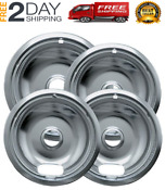 Chrome Drip Pans For Range Kleen 10124xz Whirlpool
