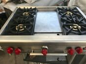 36 Wolf Stainless Rangetop 4 Griddle In Los Angeles