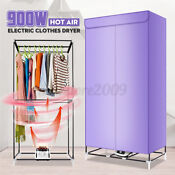 900w Purple Hot Air Clothes Dryer Electric Drying Machine Home Portable Hanger