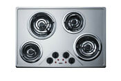 Summit Cr430ss Stainless Steel 30 W Ada Compliant Built In Electric Cooktop