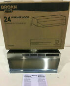 Broan F402404 24 In Convertible Range Hood In Stainless Steel New Other