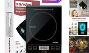 Sandoo Induction Cooktop 1800w Portable Electric Burner Stove Safety Single