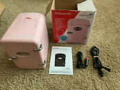 Pink Frigidaire Retro Mini Portable Compact Refrigerator 6 Cans 4l Spa Fridge