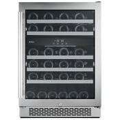 Avallon 46 Bottle 24 In Built In Dual Zone Wine Cooler Right Hinge