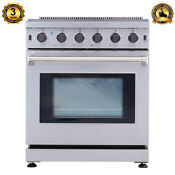 30 Inch Professional Stainless Steel Gas Range 5 Burner Cooker Oven Cooktop Cook