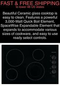Free Shipping New Frigidaire 30 3000w Quick Boil Electric Ceramic Glass Cooktop