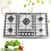 5 Burners Built In Stove Top Gas Cooktop Easy To Clean Ng Lpg Gas Cooking 33 8