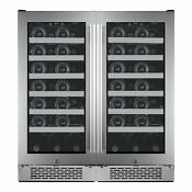 Avallon Awc151szdual Built In 30 W 54 Bottle Capacity Wine Cooler Stainless
