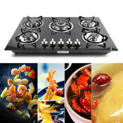 30 Inch Lpg Ng Gas Cooktop 5 Burner Tempered Glass Gas Hob Built In Cooker