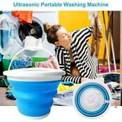 Mini Portable Ultrasonic Turbine Washing Machine Spin Laundry Washer
