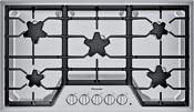 Thermador Masterpiece Sgs365t 36 Inch Star Burner Gas Cooktop Stainless Steel