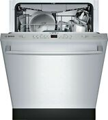 Bosch Ascenta Series Shxm4ay55n 24 Dishwasher 15 Place 48 Dba Stainless Steel