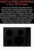 Free Shipping New Whirlpool 30 4 Elements Ceramic Glass Black Electric Cooktop