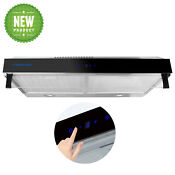 30 Inches Touch Control Wall Mount Range Hood Washable Filter Vent Fan Duct