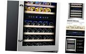 45 Bottle Dual Zone 24 Built In Or Freestanding Wine Cooler Refrigerator With