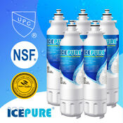 5 Pack Fit For Lg Lsxs26366s Lg Lt800p Adq73613401 Fridge Water Filter Icepure