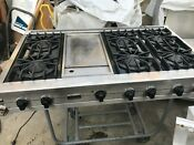 Viking 48 Stainless Range Top Gas 6 Griddle In Los Angeles