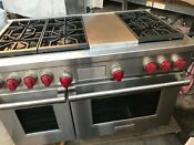 48 Wolf Stainless Gas Range Df486c Dueal Fuel Oven 240 Volt In Los Angeles