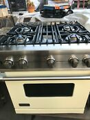30 Viking Gas Range Ss N Cream Color Vgcc5304ble In Los Angeles