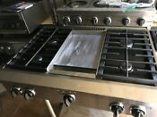 36 Kitchen Aid Range Top Propane 6 Or 4 Griddle In La