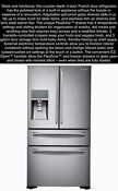 New Nib Samsung Stainless French Twin Cooling Counter Depth 4 Door Refrigerator