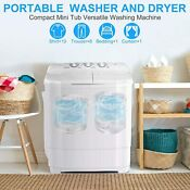 Mini Portable Washing Machine Spin Wash 20 7lbs Capacity Compact Laundry Washer