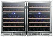 Edgestar Cwr462dzdual 47 W 92 Bottle Built In Side By Side Wine Stainless