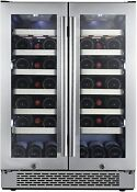 Avallon Awc241fd 42 Bottle 24 Dual Zone French Door Built In Wine Cooler