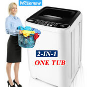 Nictemaw 2 In 1 Auto Washing Machine 21lb Compact Portable Laundry Washer Dryer