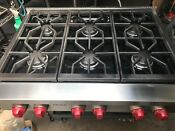 36 Wolf Stainless Gas Rangetop 4 Grill Srt In Los Angeles