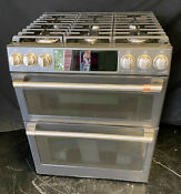 Cafe Cgs750p3md1 30 Smart Slide In Double Oven Gas Range With 6 Sealed Burners