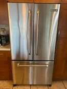Jenn Air Stainless Steel Refrigerator 20 Cu Ft Jfc2087hrp Nice And Clean