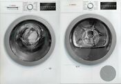 Bosch 500 Series 24 Stacked Washer Dryer Set Front Load White Bowadreuc3