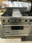 36 Viking Stainless Gas Range 4 Griddle In Los Angeles
