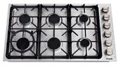 Thor Kitchen Tgc3601 36 Inch Professional Gas Cooktop Stainless Steel