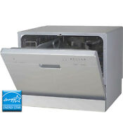 Stainless Steel Countertop Dishwasher Portable Tabletop Dish Washer Machine